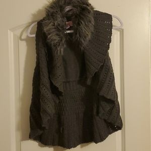 Dolled Up fur collar sweater.